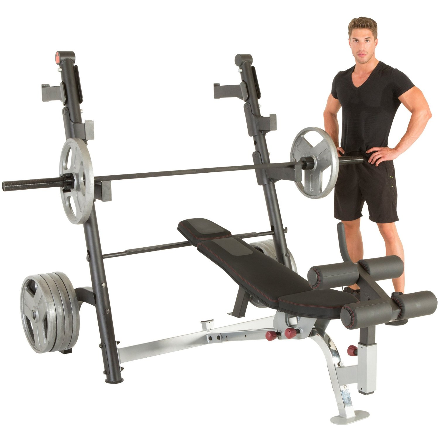 weight olympic amazon bench com piece with outdoors and two weights rack squat dp set sports
